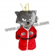 Red Wolf Animal Rider Coin Operated Machine