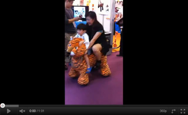 Tiger Animal Rider Coin Operated Machine